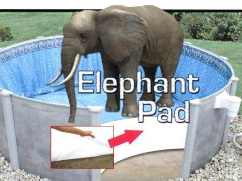 24 Ft Round Pool Liner Pad Elephant Guard Armor Shield Padding