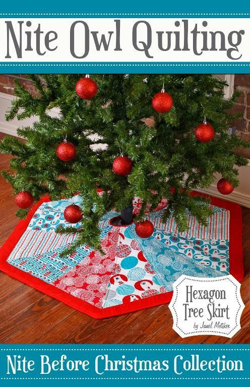 Make a Quilted Hexagon Christmas Tree Skirt | Fat quarters, Fat ...