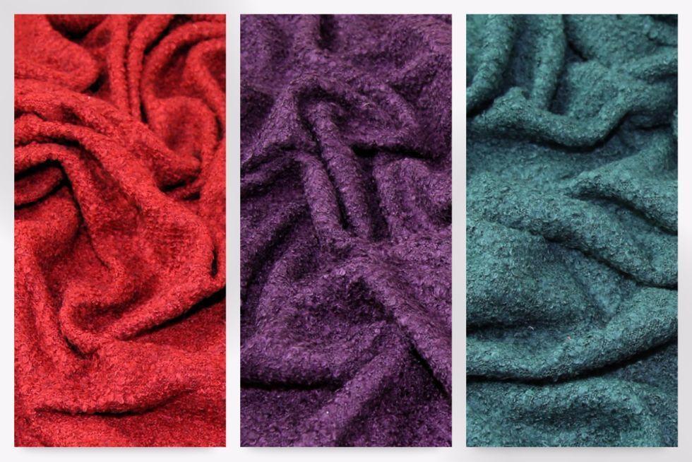 08cc0c5edd5336 Boucle Tweed Wool Blend Stretch Jersey Knit Dress Fabric (EM-555Boucle-M)