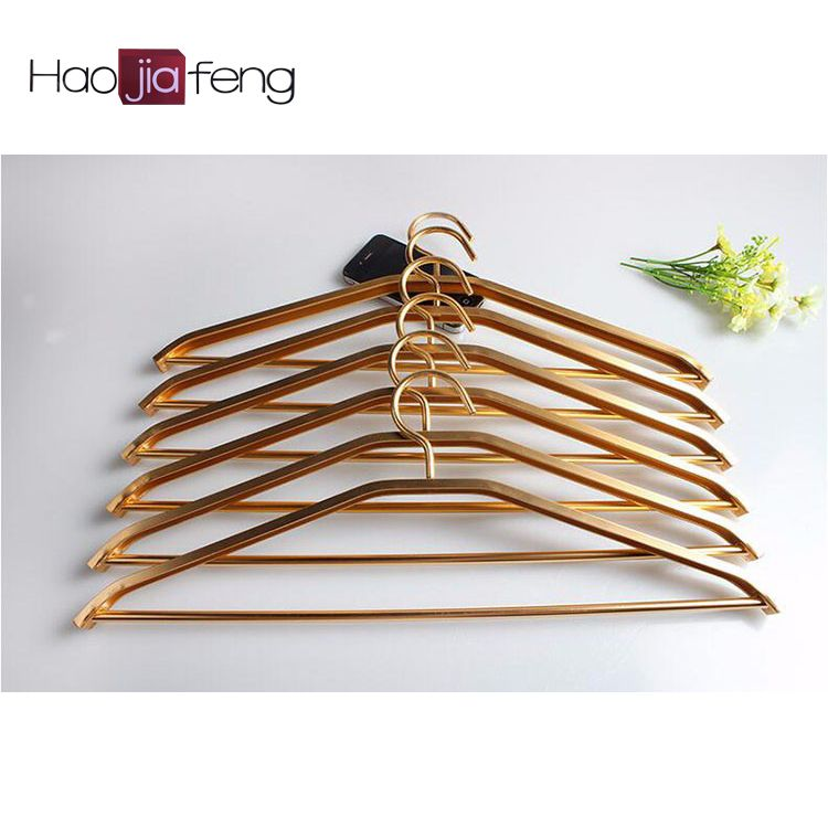 Eco Friendly Cheap Colorful Aluminumcoat Hanger Metal Clothes