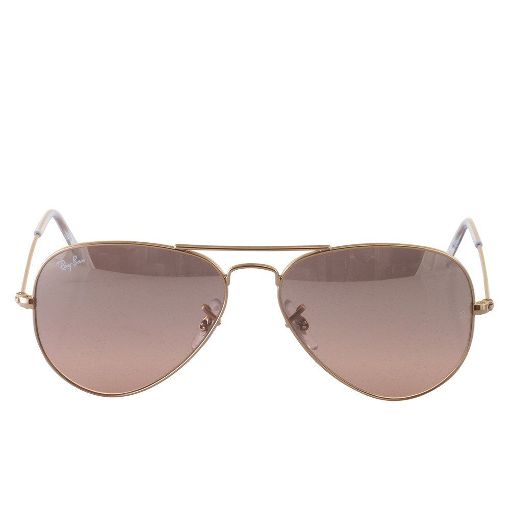 a0aaed0812 Ray-Ban AVIATOR LARGE METAL - GOLD Frame CRYS.BROWN-PINK SILVER MIRROR