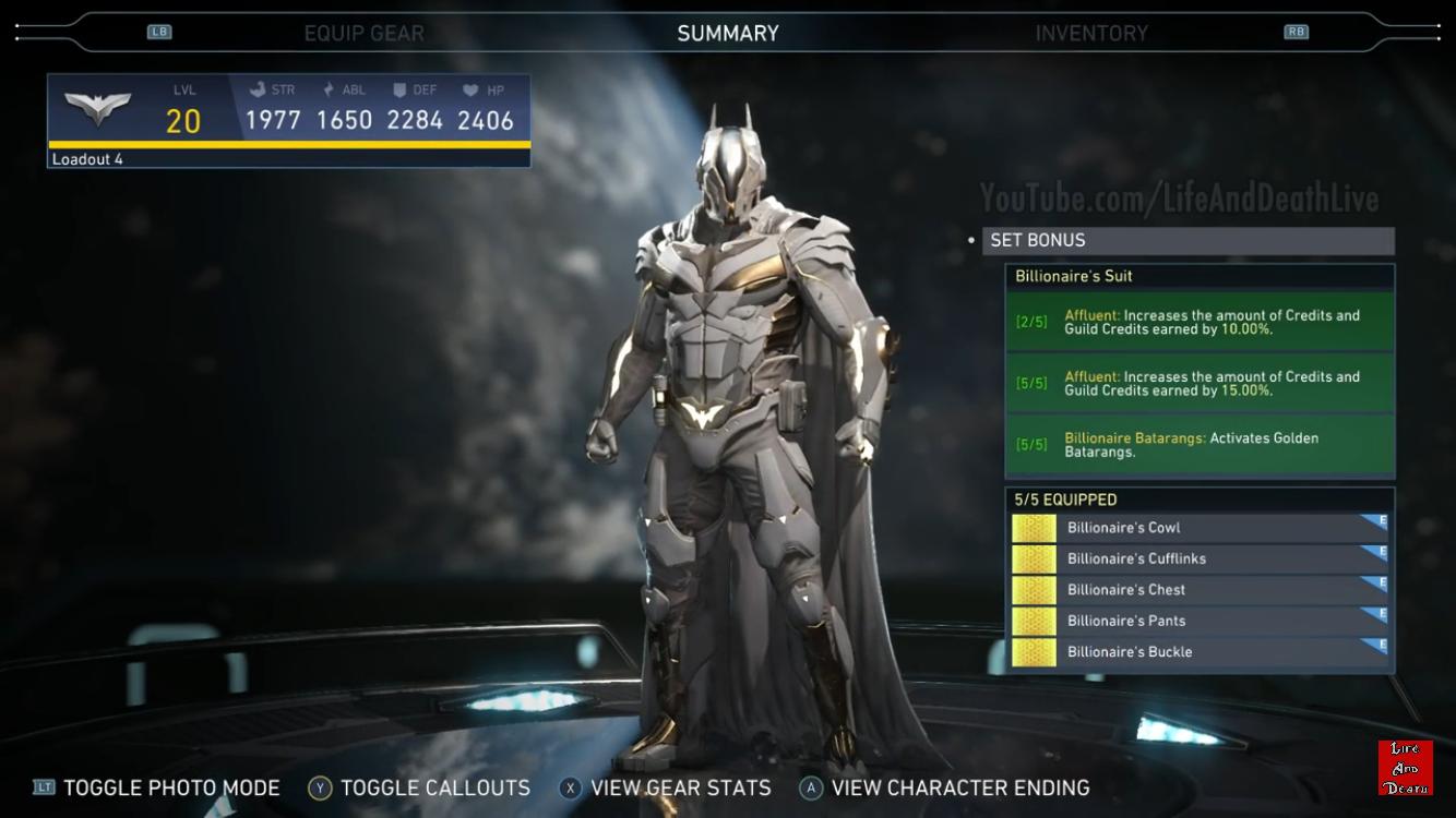 injustice 2 how to get batman billionaire gear