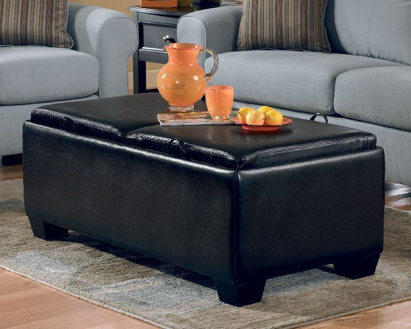 Ashley Durahide Bicast Black Storage Ottoman 7180011 Black Storage Ottoman Storage Ottoman Ottoman In Living Room