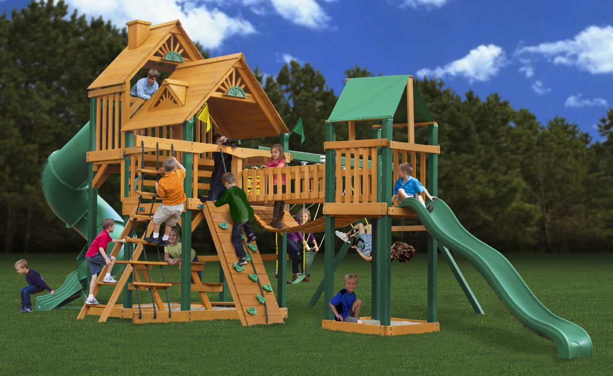 Gorilla Playsets Treasure Trove With Timber Shield Cedar Play   The Home  Depot
