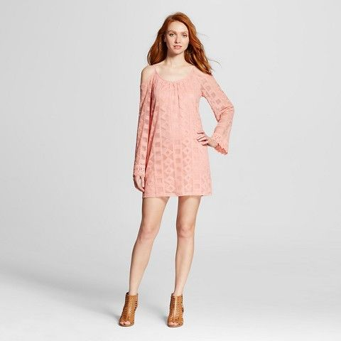 4f6ca05e20 Women s Bell-Sleeve Shift Dress Coral - Xhilaration™ (Juniors ...