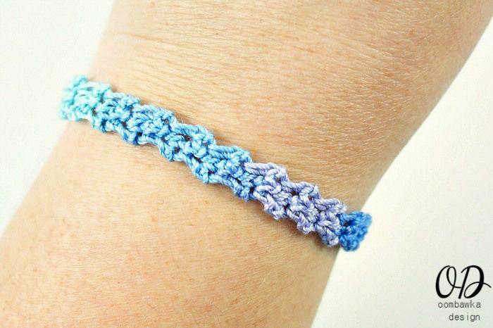 Rainbow Friendship Bracelet Pattern Jewelry Pinterest Crochet