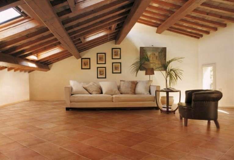 Colori pareti per pavimento in cotto - Cucina rustica arancio