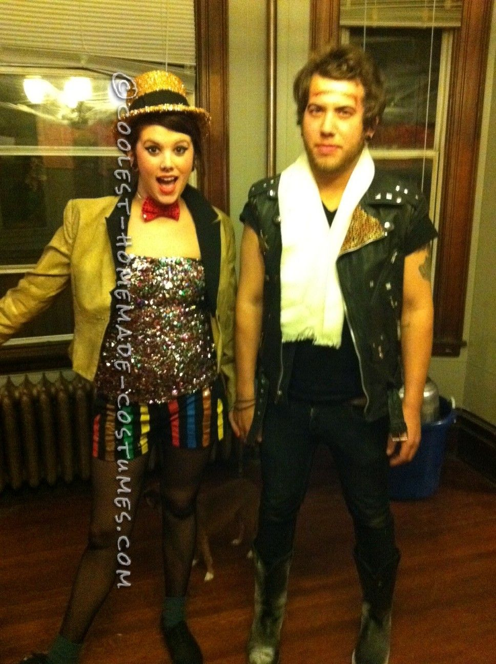 Coolest Rocky Horror Columbia and Eddie Couple Costume | Homemade ...