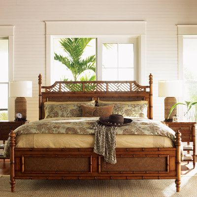 Superior Tommy Bahama Home Island Estate Panel Customizable Bedroom Set