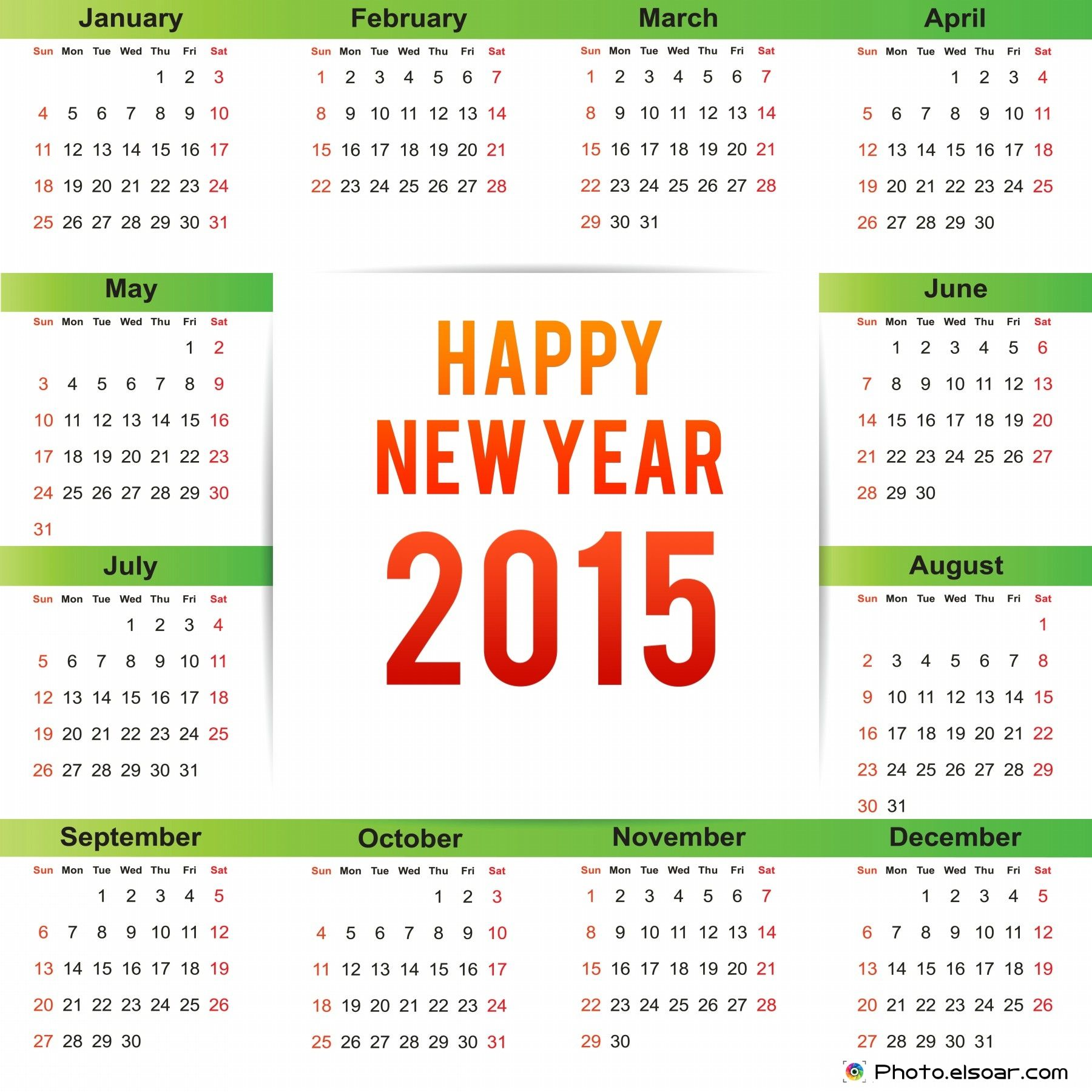 New Year 2015 Calendars Clip Art Happy New Year 2015 New Year