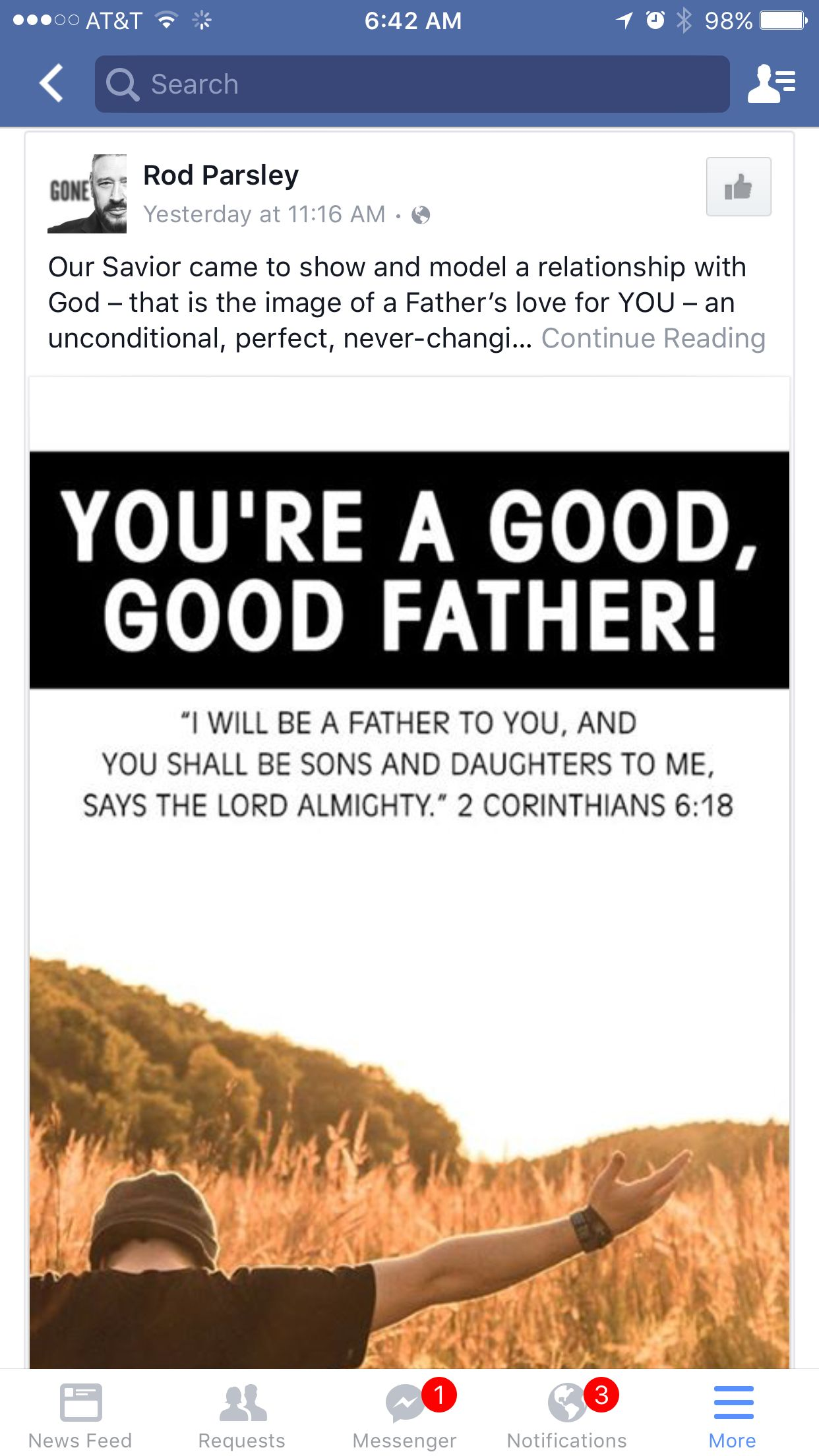 2 Cor 6:18 good good Father