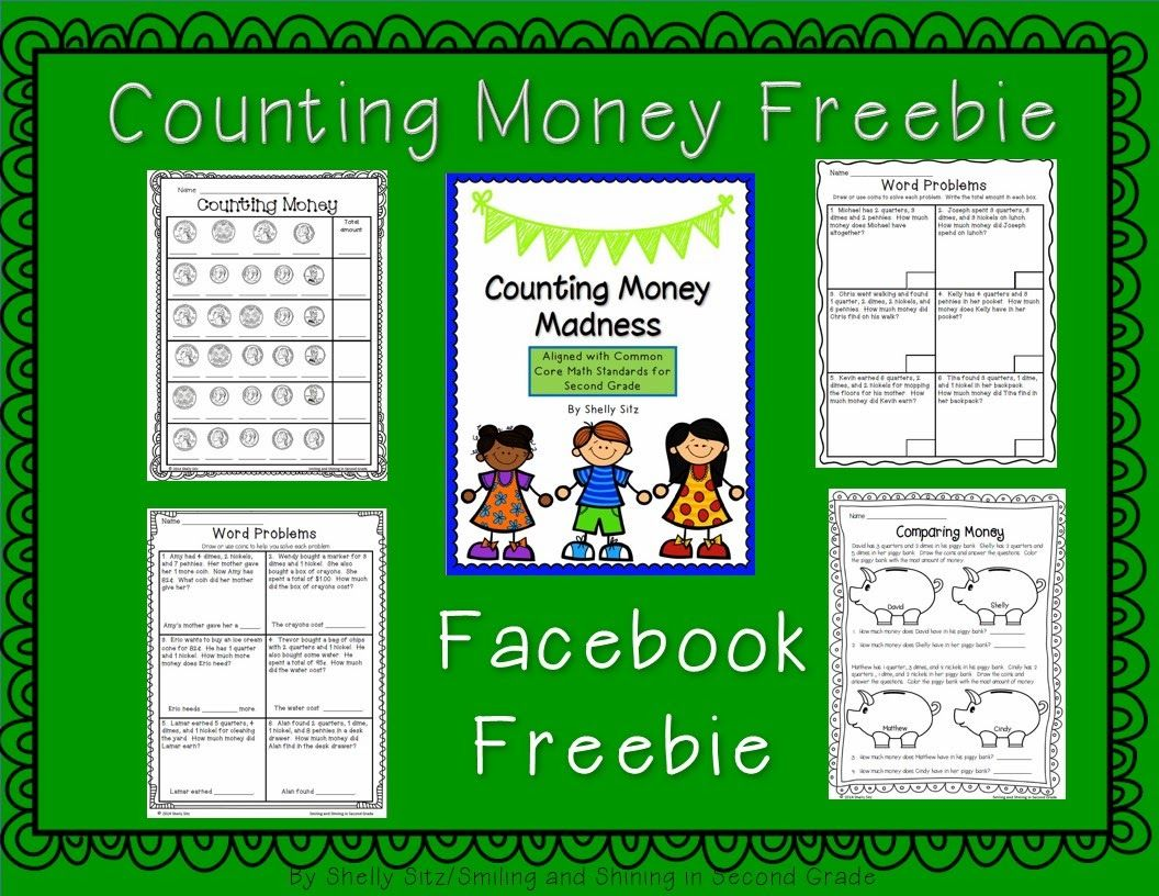 Counting Money Freebie Common Core Math Standard 2 Md 8 Solve Word Problems Involving Dollar