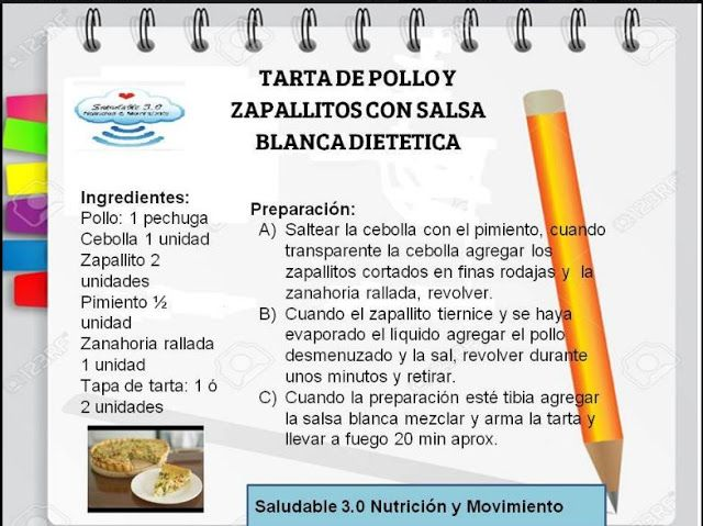 Saludable 3.0 Nutrición & Movimiento: RECETA SALUDABLE