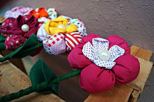 Flores de tecido