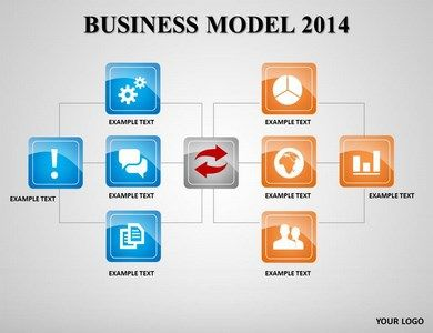 business model 2014 powerpoint template - slideworld, Modern powerpoint