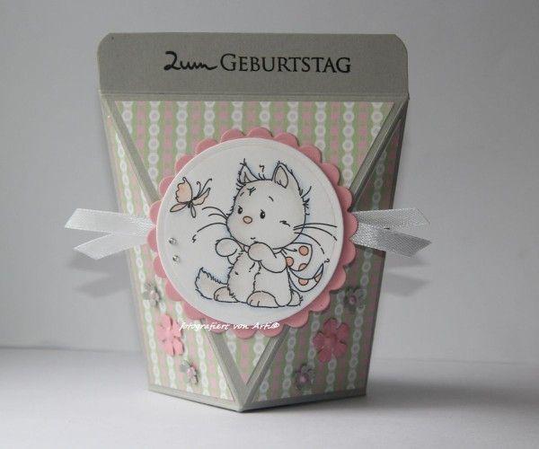 blog.karten-kunst.de - Selbstschließende Box. Wee Stamps Playful Kittens, Karten-Kunst Kombi Set Grüße