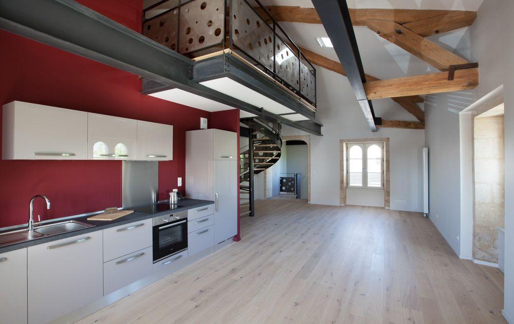photo studio grand ouest plancher en chene poutrelle m tallique ipn poutres anciennes pour. Black Bedroom Furniture Sets. Home Design Ideas