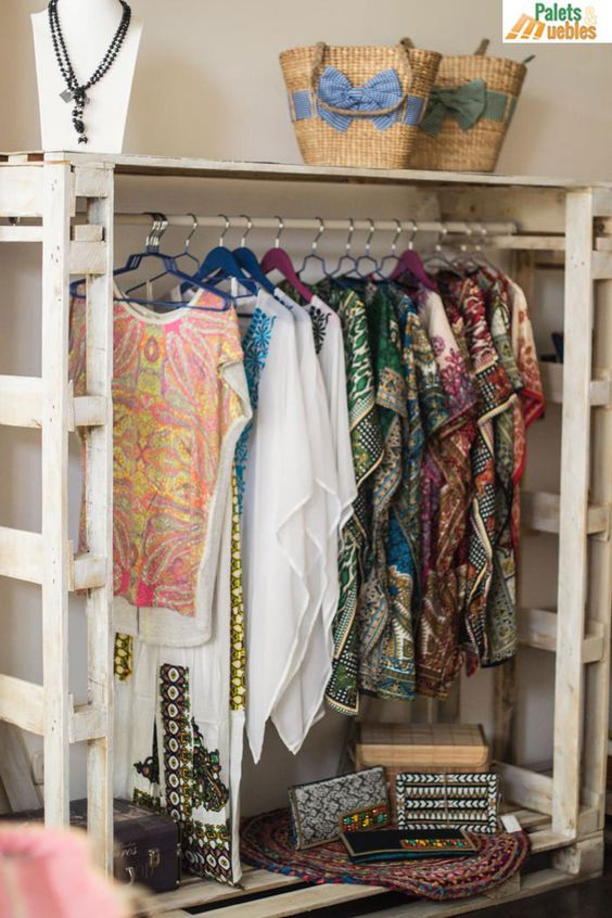 5 estilos de armarios de palets originales y muy creativos | Armario ...
