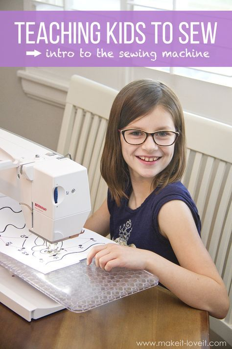 Teaching Kids to Sew, Part 4: Intro to the Sewing Machine