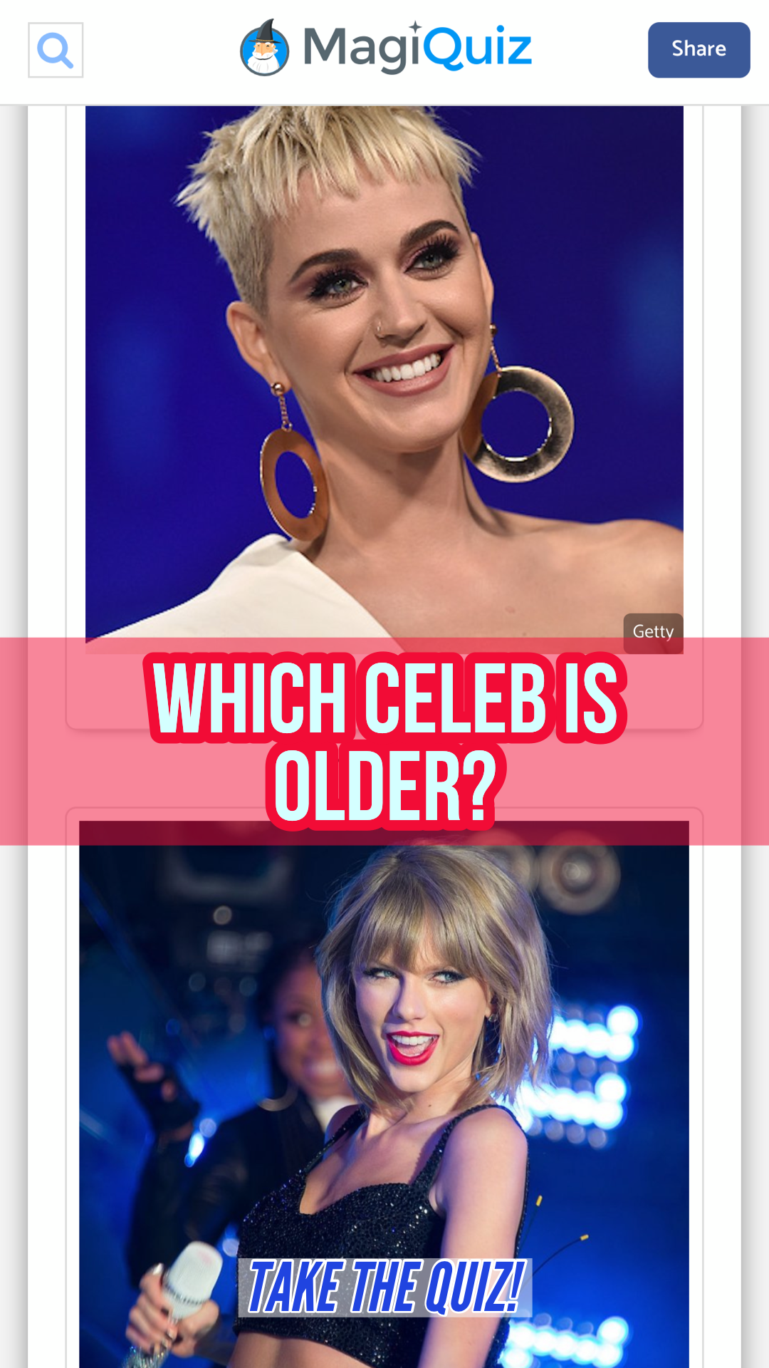 Do You Know Which Celebrity Is Older Celebrity Quiz Friend Quiz Celebrities