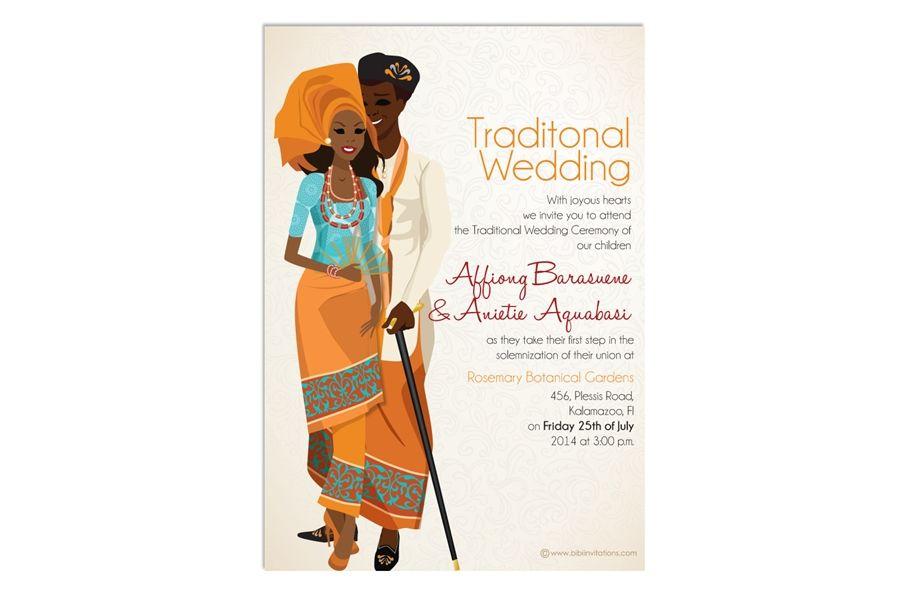 Ibibio Traditional Wedding Card African Invitation