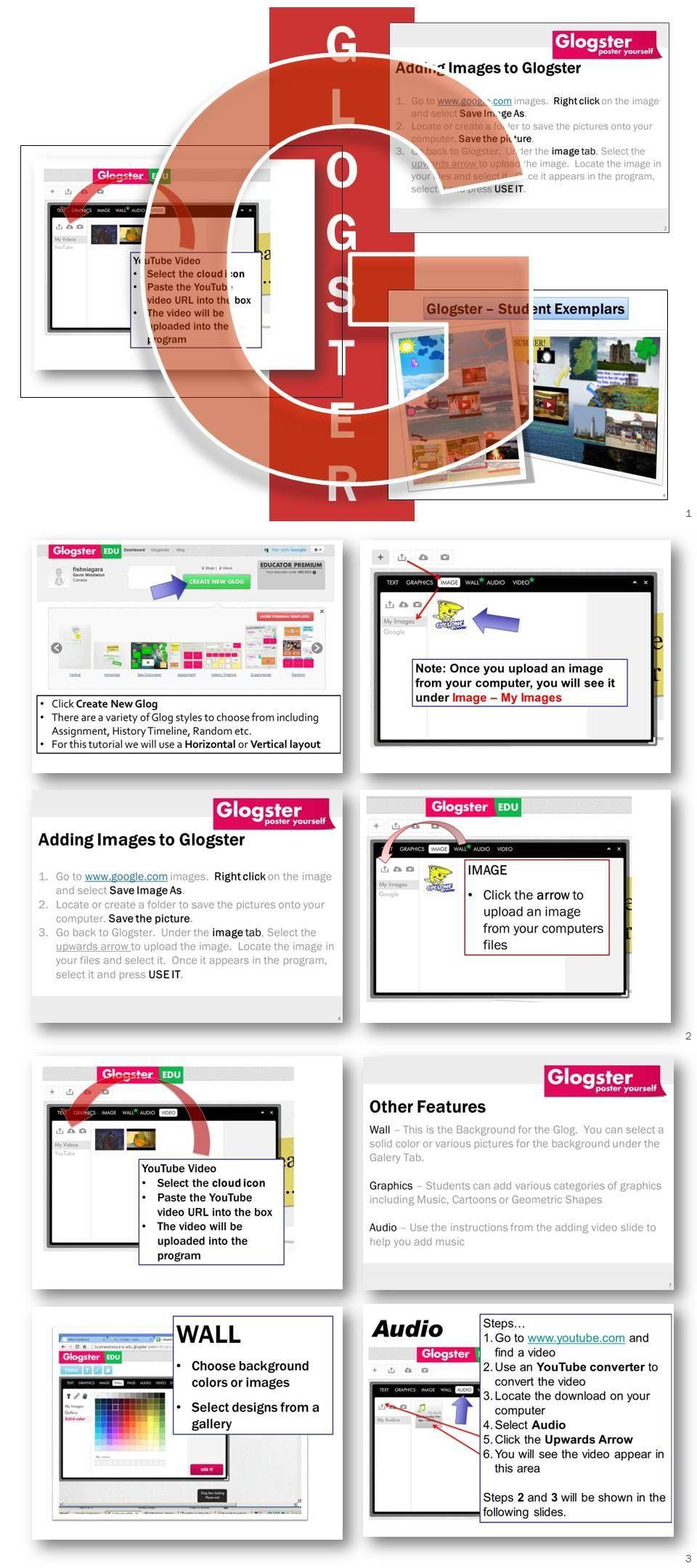 glogster multi media posters lesson activity glogster com school