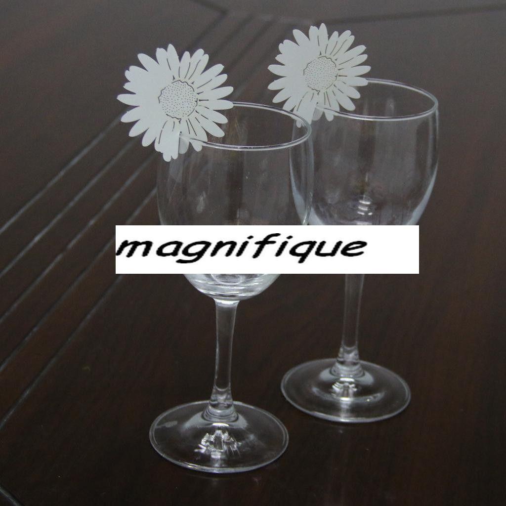 par 5 marque place fleur porte noms etiquettes decoration table mariage fete anniversaire. Black Bedroom Furniture Sets. Home Design Ideas