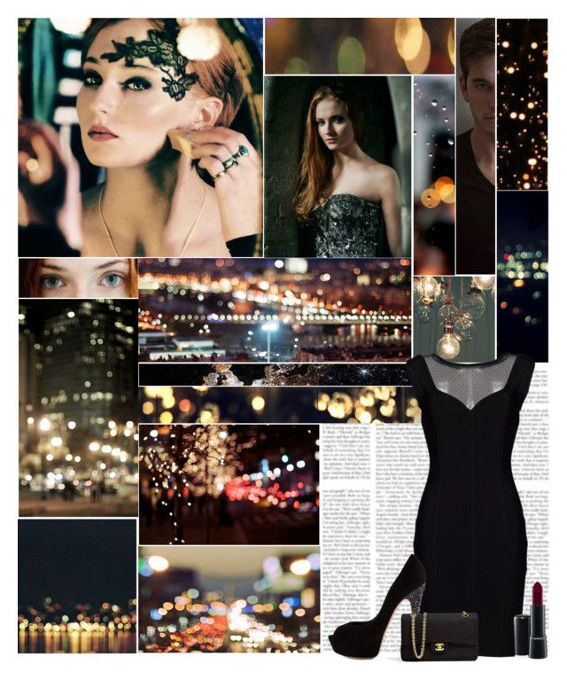"""Life of a Night Owl"" by amberbel ❤ liked on Polyvore featuring Reyes, Casadei, Chanel and MAC Cosmetics"