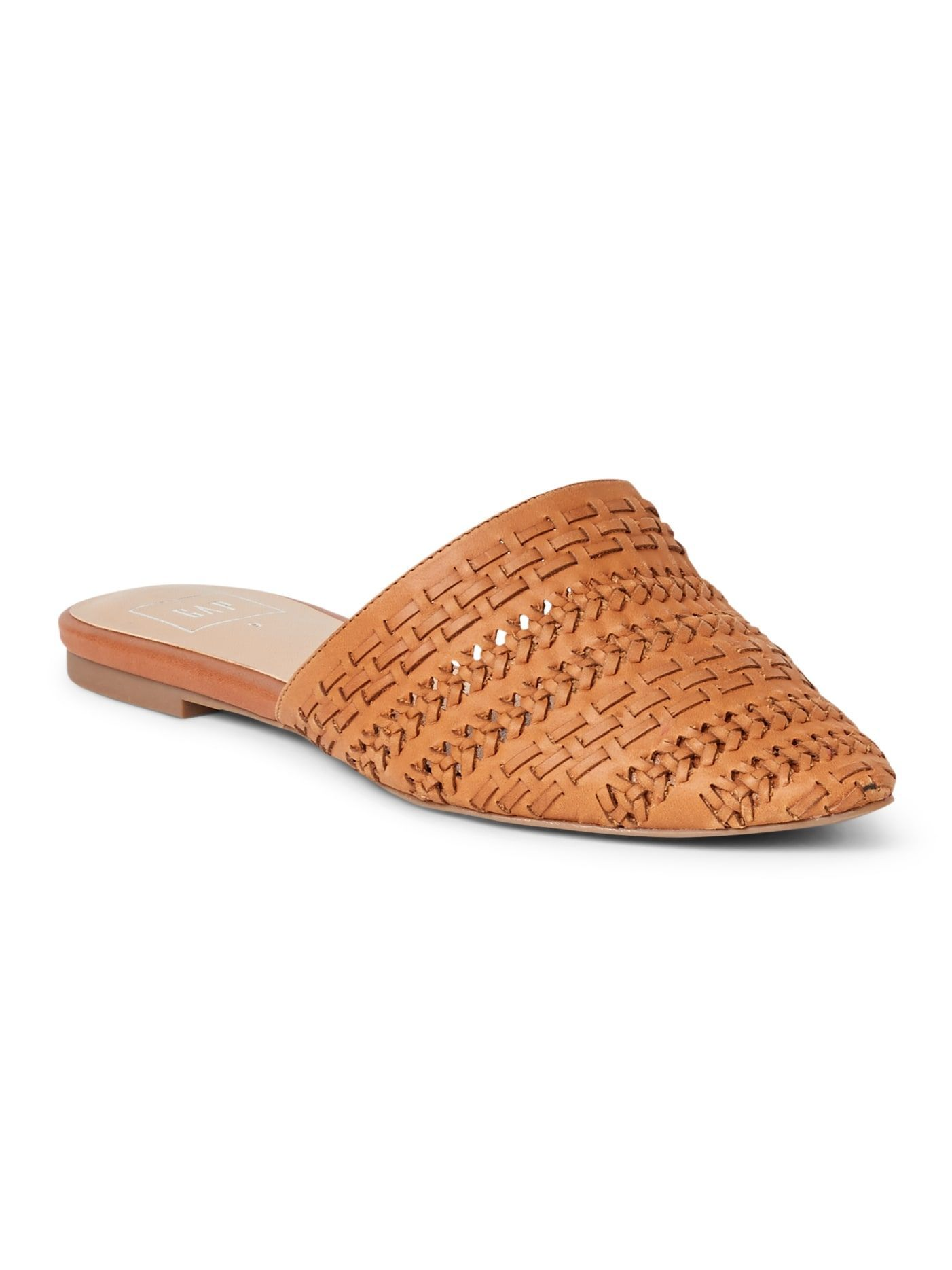 1dd735eb2d007 Flat Mules in Woven Leather from Gap - $54 | Spring 2018 trends | Women's  fashion | Comfortable Shoes | Spring Fashion | Fashion over 50 | Clothes  for women ...