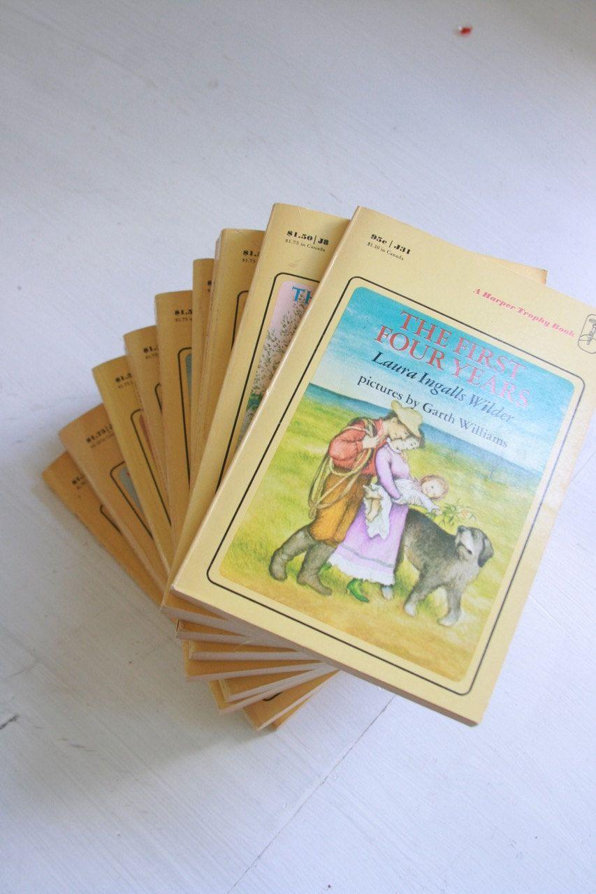 Vintage Laura Ingalls Wilder book set complete set of Little House ...