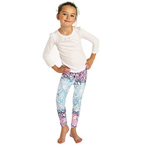 036a99996 MONASITA Girls Print Leggings For Active Kids | Girls Activewear ...