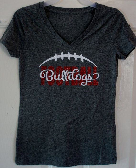 Custom Football T-shirt Long sleeves Sweatshirt by GlitterMomz ...