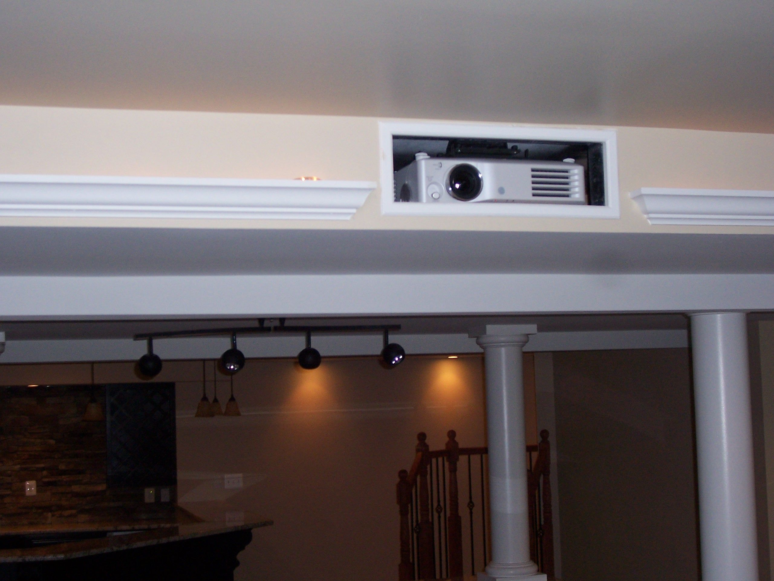 projector for my home theater room in the basement Small