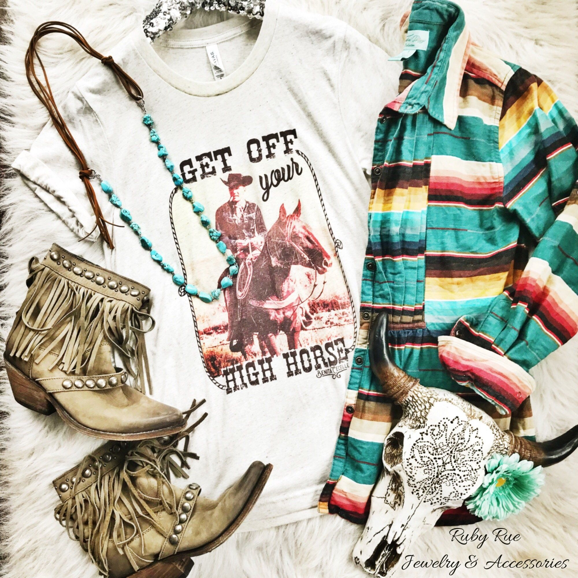Get Off Your High Horse Tee