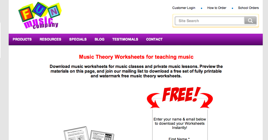 Middle School Band Maven: Music Theory Worksheets (free ...
