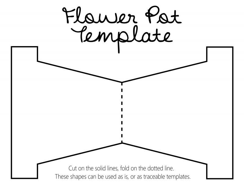 DIY Revisited: Mother\'s Day flower pot with template... Flower Pot ...