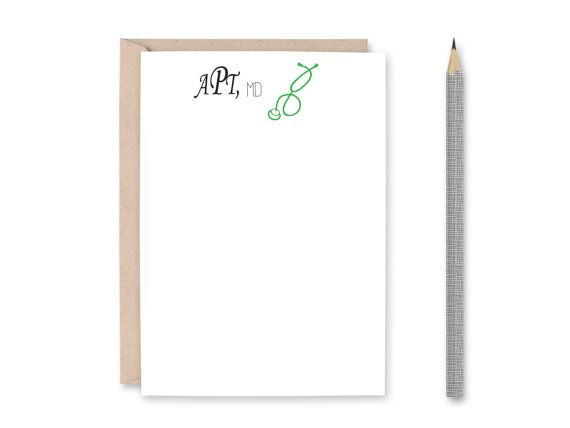 Medical Note Card Set - Doctor Note Card - Doctor Stationery - Personalized Doctor Note Card - Medical Student Gift - Medical Christmas Gift