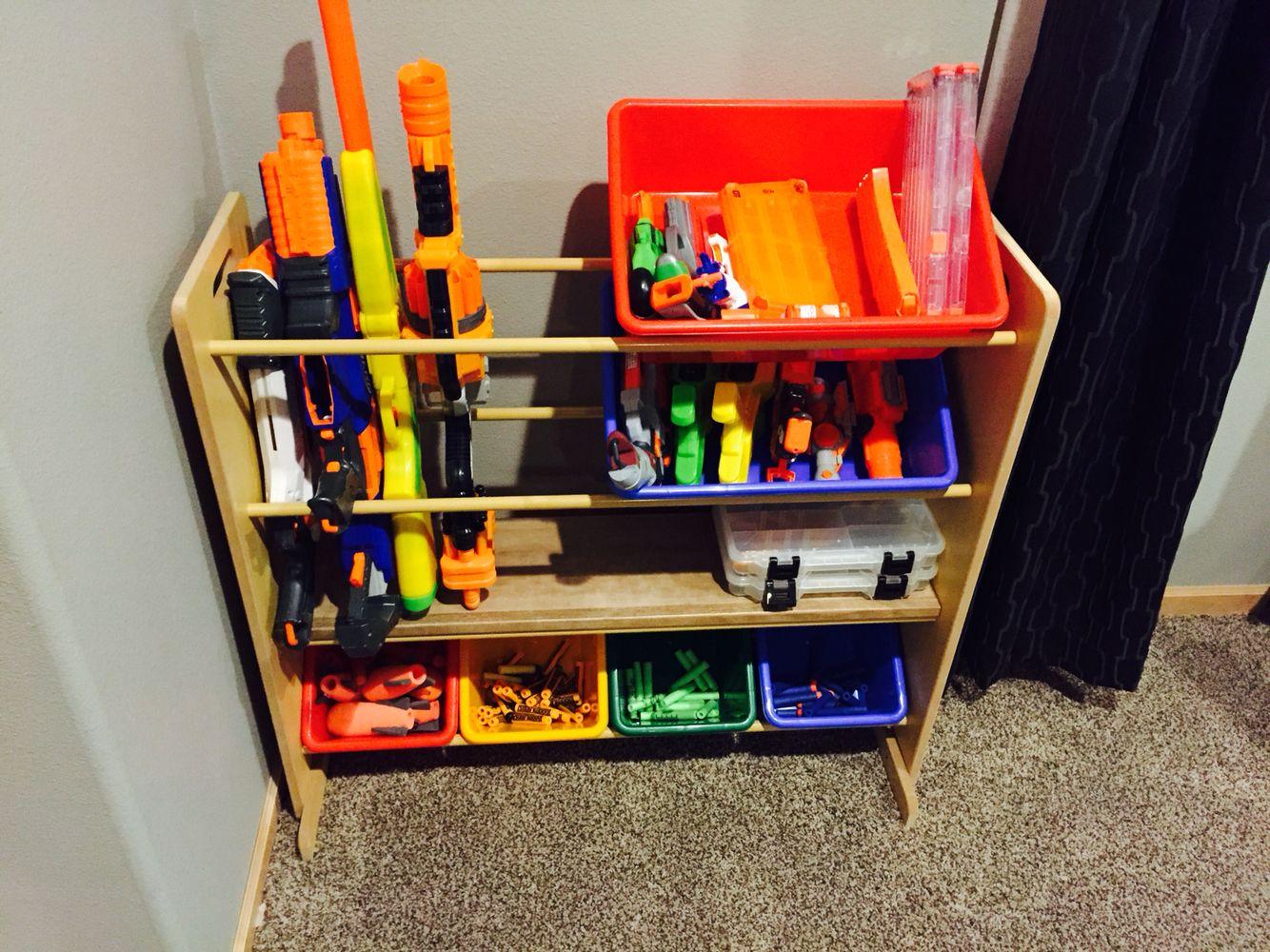Nerf gun shelf | Easton 6! | Pinterest | Guns, Shelves and Room
