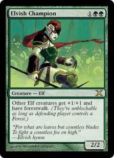 Elvish Champion   Mtg   Magic the gathering cards, Magic