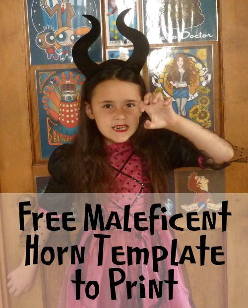 Free Maleficent Horn Template To Print Cricut Ideas