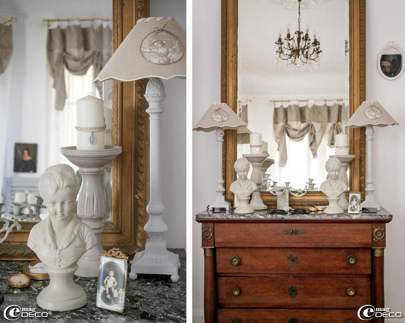 dans une maison n mes commode de famille de style empire bustes en terre cuite chin puis. Black Bedroom Furniture Sets. Home Design Ideas
