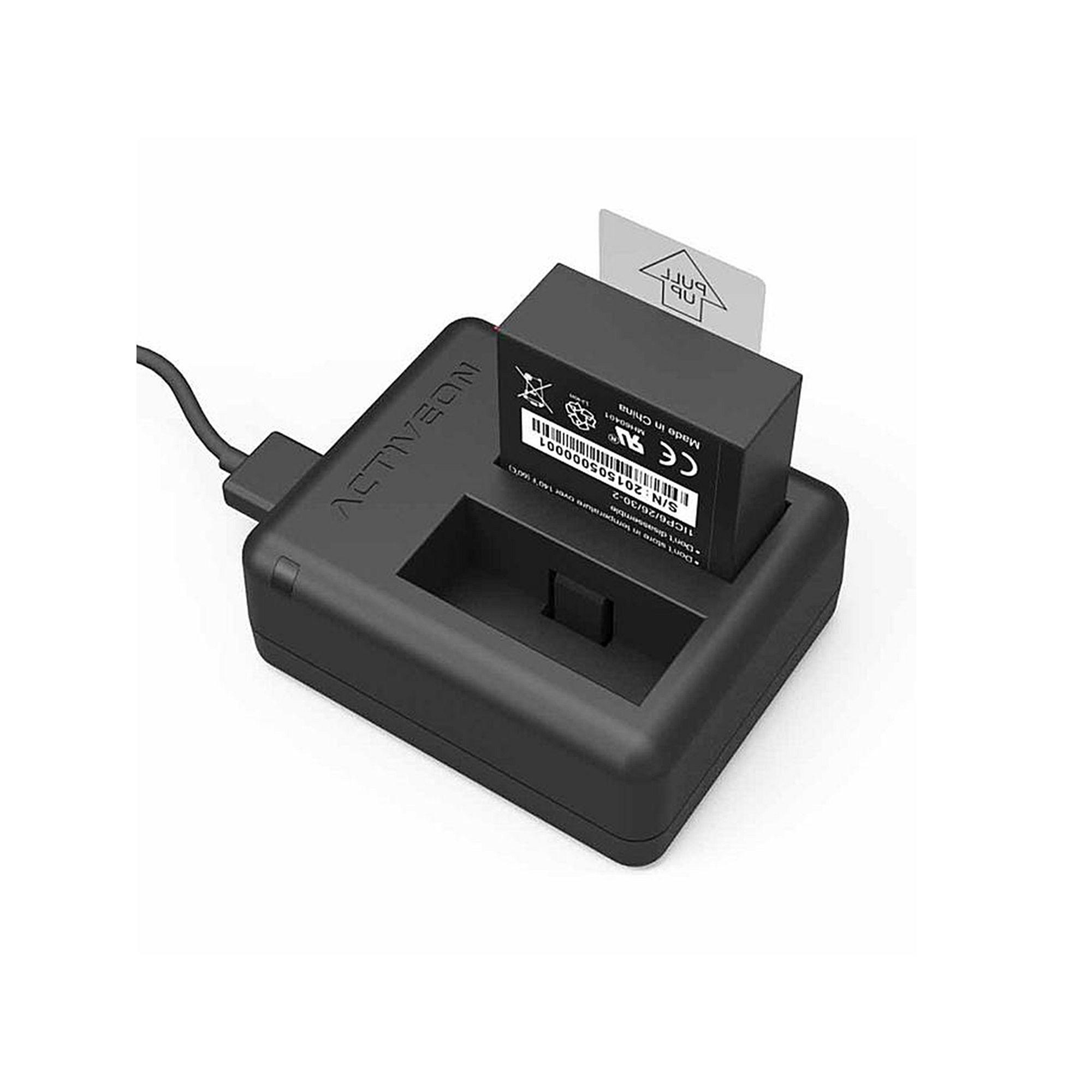 Activeon CX Camera Battery Charger, Black Camera battery