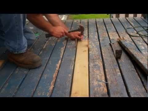 How To Replace Rotten Decking Diy Deck Building A Deck Deck Repair