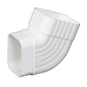 3 In X 4 In White Vinyl B Elbow Joint Need 2 Pcs Turn From Downspout Towards The Support Beam And Then Downwards To The Groun White Vinyl Copper Gutters How To Install Gutters