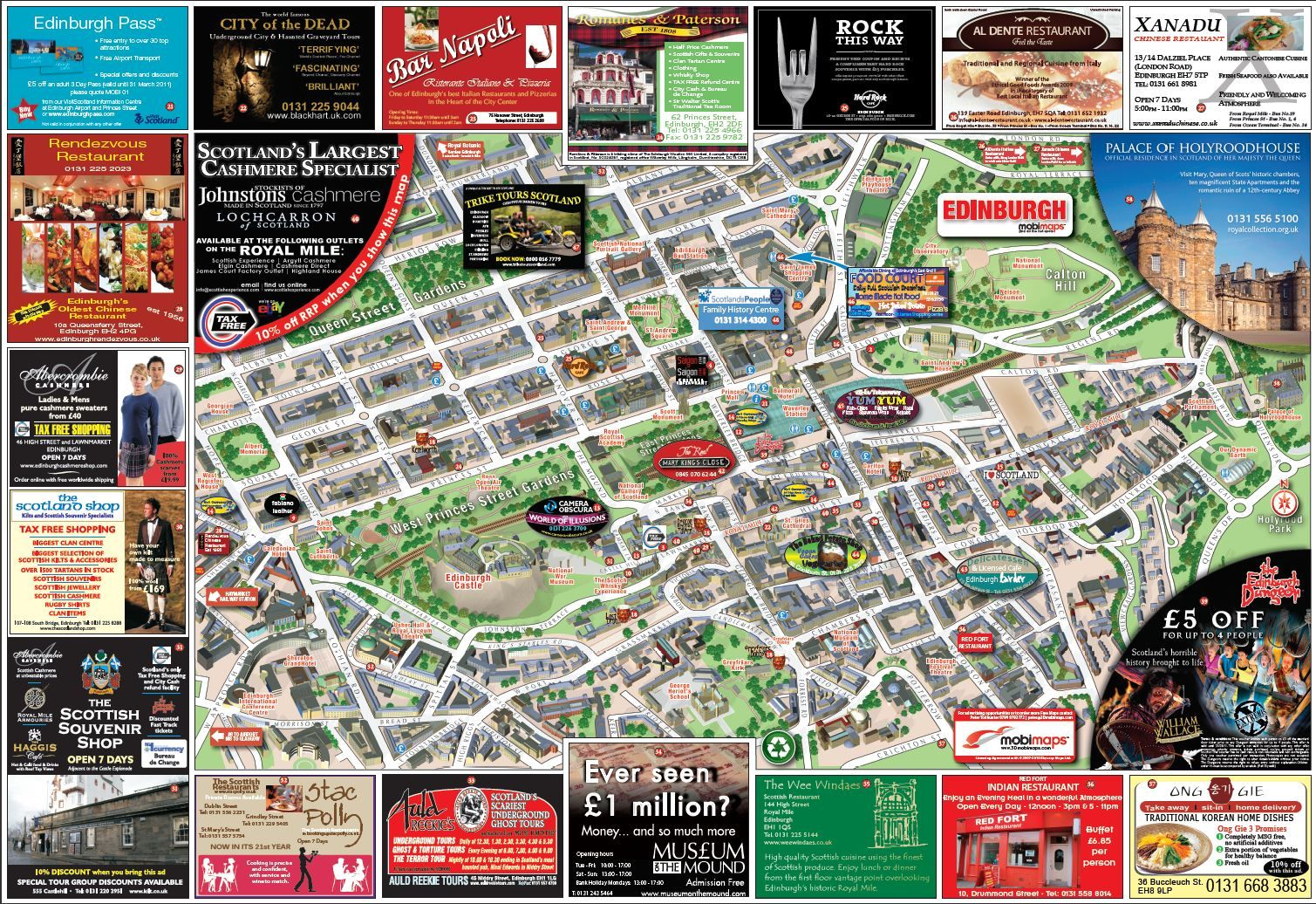 edinburgh | Edinburgh Mobimap Map - Edinburgh • mappery | Edinburgh ...