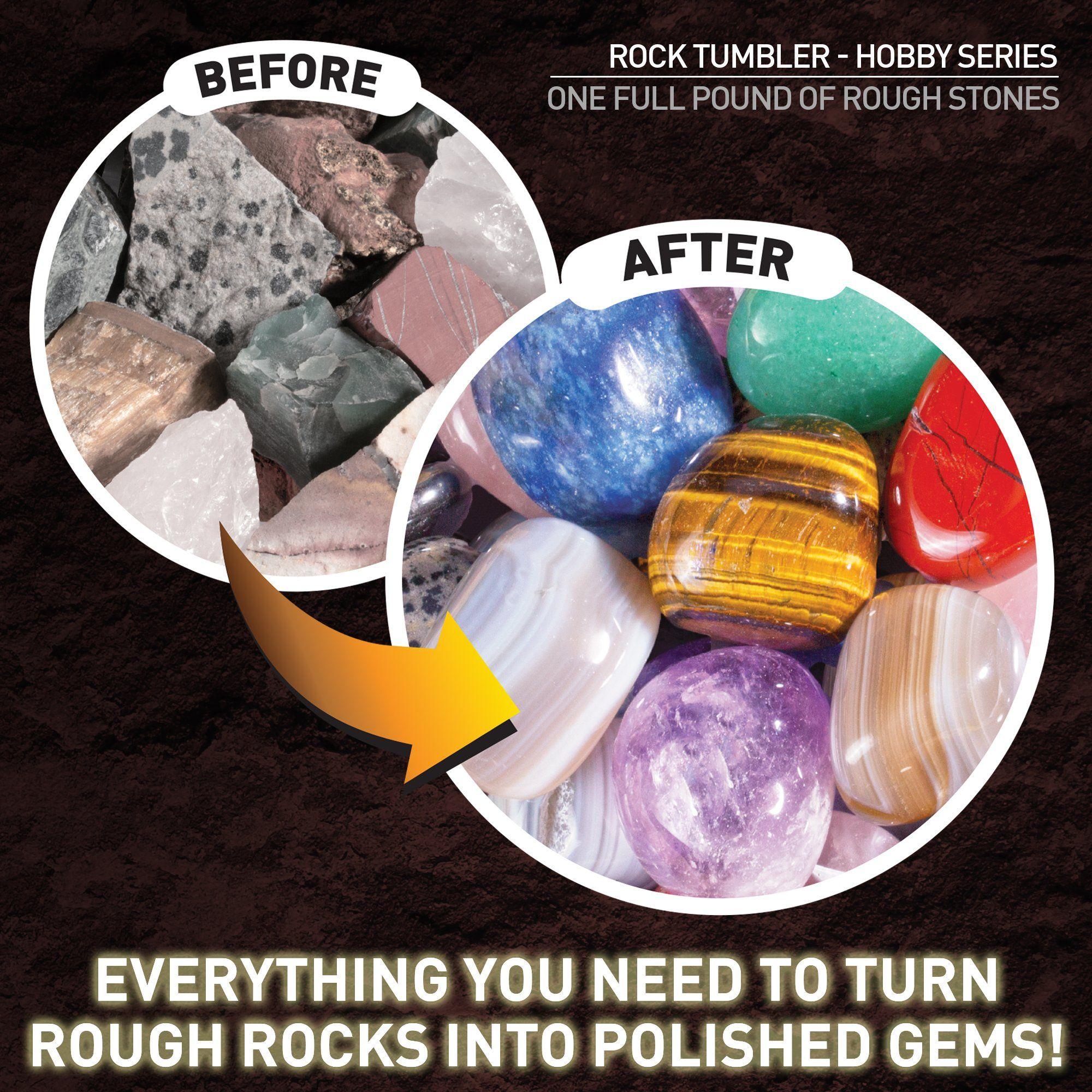 National Geographic Hobby Rock Tumbler Kit Rotary Rock Tumbler