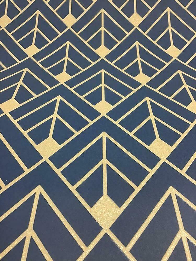 Details about Rasch Diamond Geometric Wallpaper Navy Blue
