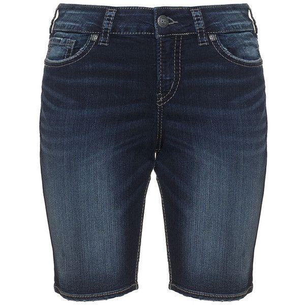 Silver Jeans Dark-Blue Plus Size Suki denim bermuda shorts ($115 ...