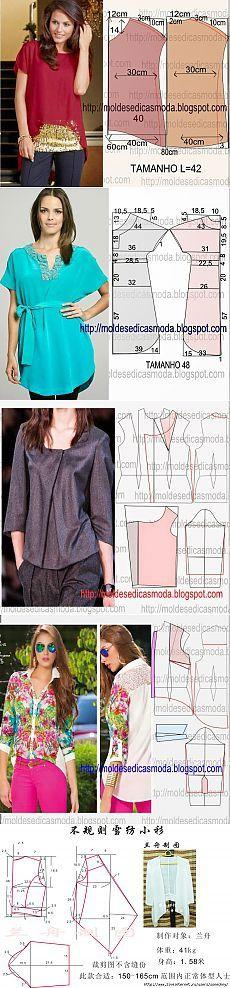 Camisas + patrón. (12chast)
