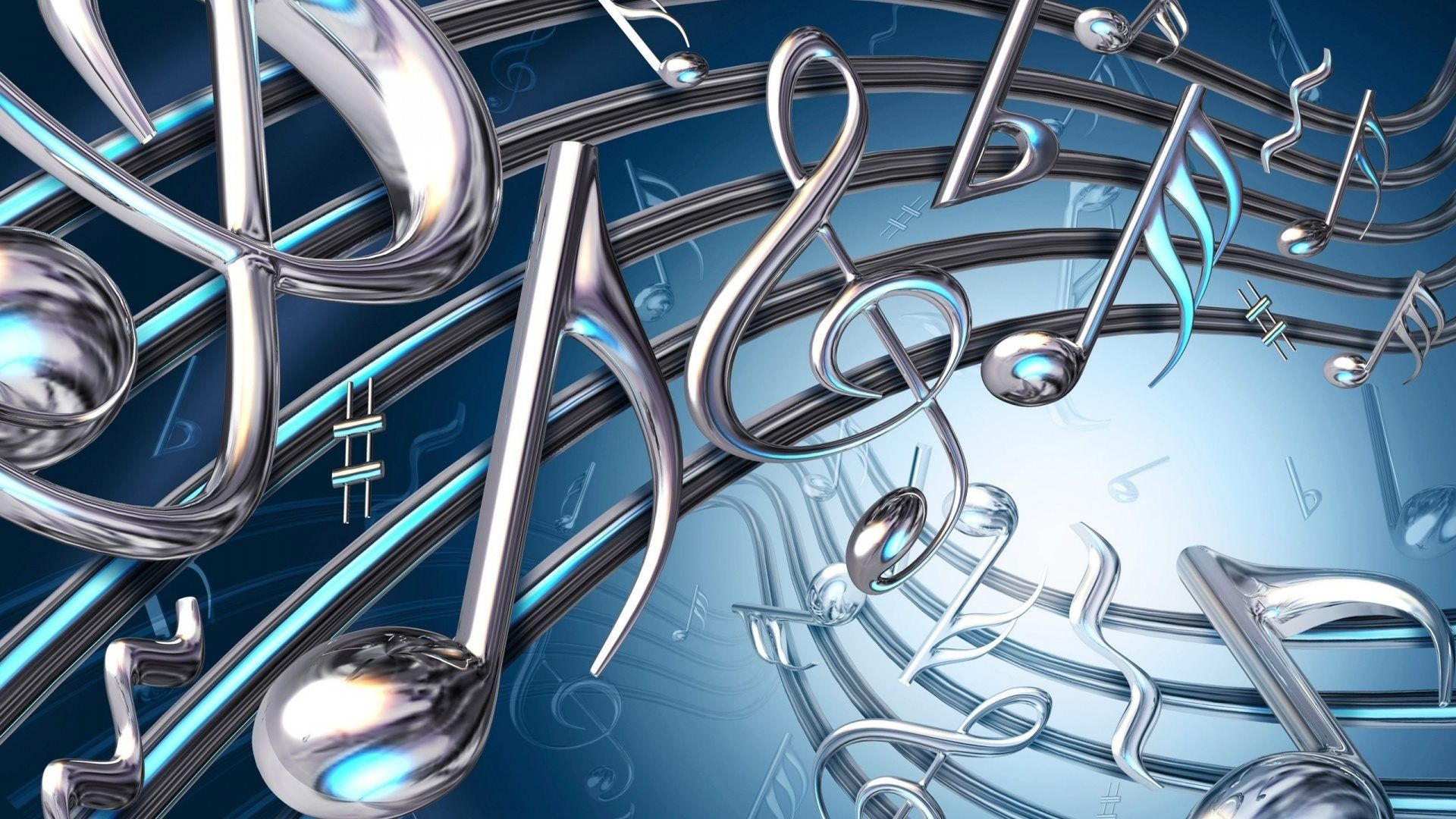 Preview Of 1080p Hd 3d Colorful Music Notes Wallpaper